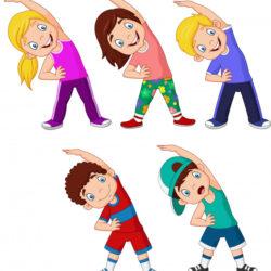 kreskowka-male-dzieci-cwiczy-na-bialym-tle_29190-1503