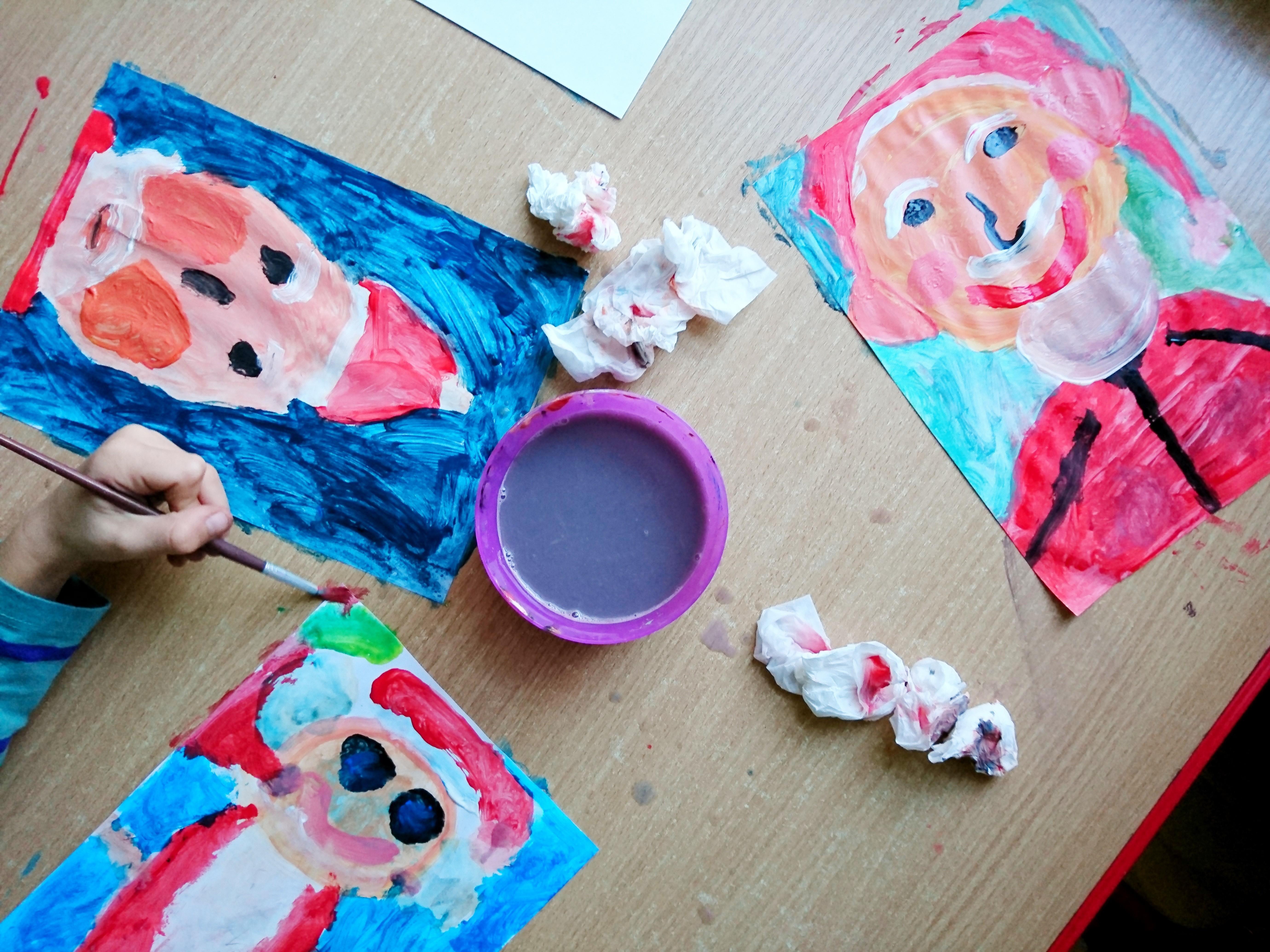 Warsztaty plastyczne - portret Mikołaja