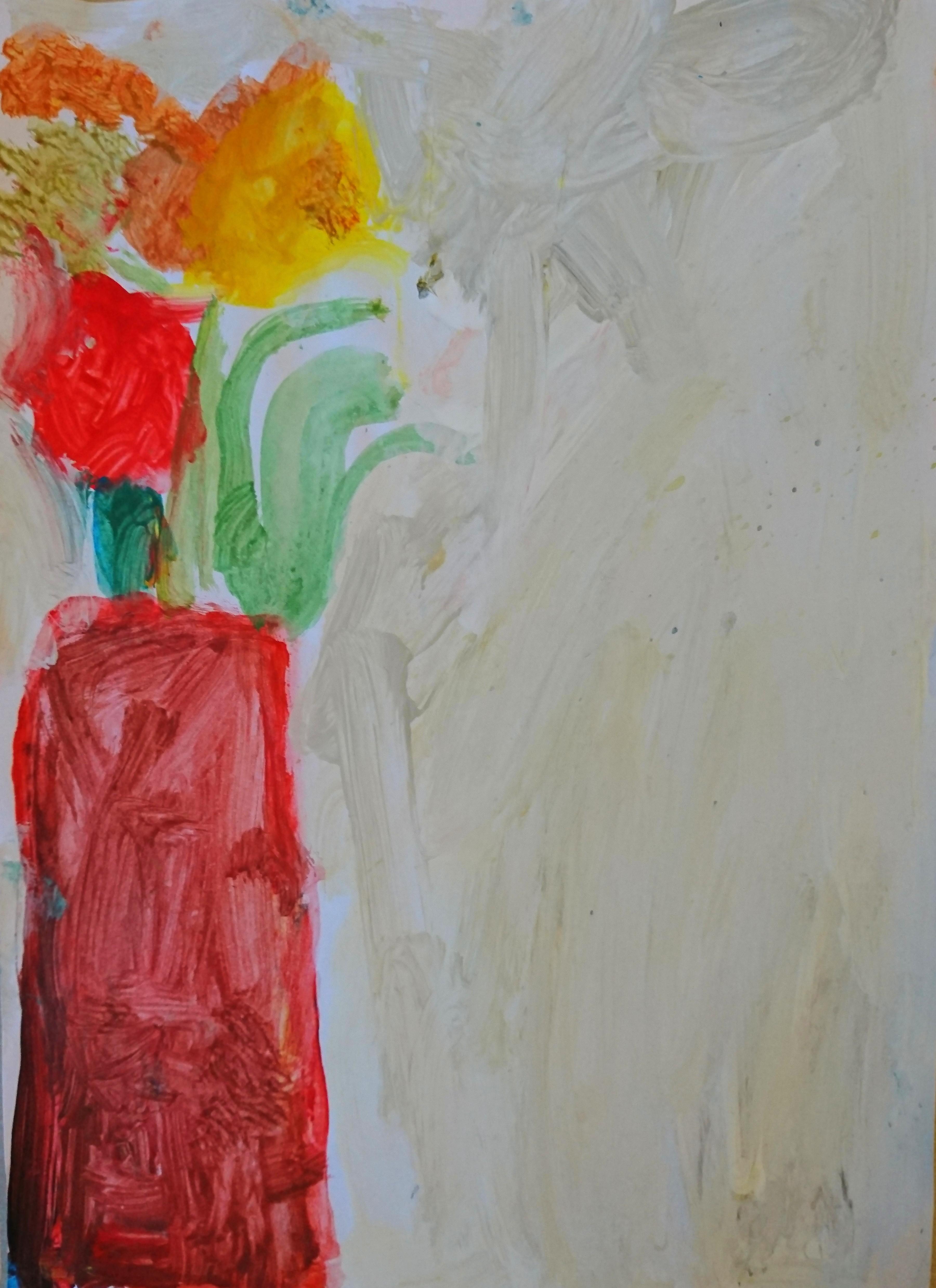 Warsztaty plastyczne - Kwiaty w wazonie